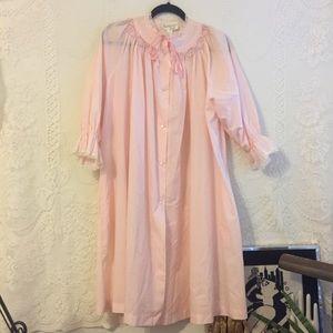 Vintage Eve Stillman Pink Nightgown Robe Sz M VTG